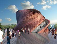 daniel libeskind twists vanke pavilion for expo milan 2015