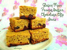 Peanut Butter Chocolate Chip Bars (gluten-free) by sherimiya ♥, via Flickr