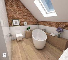 Loft Bathroom, Family Bathroom, Laundry In Bathroom, Best Bathroom Designs, Bathroom Design Small, Scandinavian Bathroom, Attic Rooms, Loft Spaces, House In The Woods