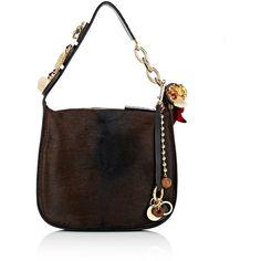 Marni Women's Midtown Calf Hair Hobo Bag ($2,809) ❤ liked on Polyvore featuring bags, handbags, shoulder bags, no color, shoulder strap bags, hobo handbags, marni purse, marni handbags and white purse