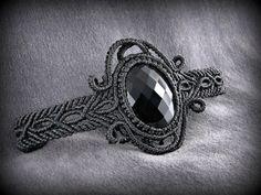 Tourmaline included Quartz Macrame Bracelet by DuFiletdesNoeuds