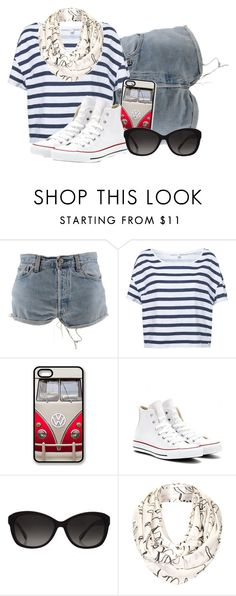 """""""[14] I Just Wanna Sink Into Your Crazy Laughter"""" by yisraelnoah ❤ liked on Polyvore featuring Levi's, Retrò, Converse, Michael Kors and Topshop"""