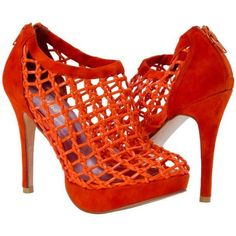 PAOLO IANTORNO Lena Orange Nappa Leather Caged Bootie ($279) ❤ liked on Polyvore featuring shoes, boots, ankle booties, paoloshoes, sexy boots, platform ankle boots, platform ankle booties, platform boots and sexy booties