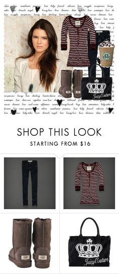 """""""school outfit"""" by mrsliamhemsworth ❤ liked on Polyvore featuring Lucca Couture, Abercrombie & Fitch, UGG Australia and Juicy Couture"""