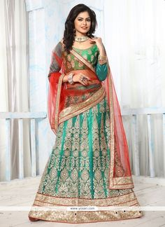 Sunshine Embroidered Work Net Lehenga Choli Model: YOLEN3486