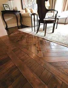 Wire-Brushed Engineered Hardwood Flooring - Estate La Martine Walnut ...