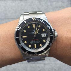 vintage red line Rolex Submariner   via vintagerolexmania