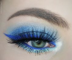 WEBSTA @ philacalista - Blue 👀💎💎💎 For this look I've used some of the lovely products that I received from @beautyuk last month. Thanks again @beautyuk 😘💙💙💙Product details below ⬇️EYESHADOW@beautyuk Eye Shadow Palette no. 2 - SOHO EYELINER @beautyuk Pro Gel Eyeliner in Cobalt Blue HIGHLIGHT (inner eye corner) @sleekmakeupHighlighting Palette Midas Touch 090MASCARA @maybelline One by One Volum'express Waterproof mascaraEYEBROWS @freedom_makeup Eyebrow Pomade in Soft Brown SKIN…