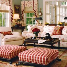 "Red makes the room ""pop"" while still maintaining it's traditional flair~"