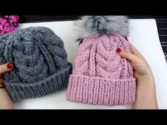 Knitted Hats, Crochet Hats, Beret, Diy And Crafts, Winter Hats, Sewing, Knitting, Youtube, Beanies