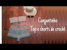 Crochet Bikini, Crochet Hats, Shorts, 1, Youtube, Tops, Crochet Crop Top, Monkeys, Crochet Projects