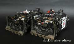 Black Brush Studio - Miniature painting services: Black Templars - Land Raider Crusader/Redeemer & Vindicators