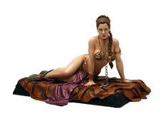 Star Wars: Princess Leia Organa in a Hot Gold Bikini Statue Princess Leia Slave, Star Wars Princess Leia, Gold Bikini, The Bikini, Star Wars Toys, Star Wars Art, Slave Leia Costume, Princes Leia, Jabba The Hutt