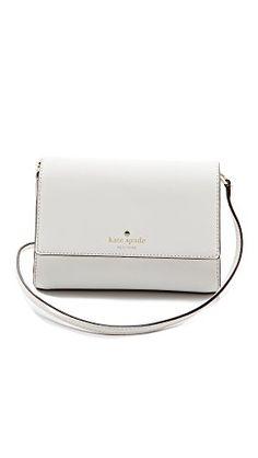 KATE SPADE NEW YORK Kate Spade New York Cedar Street Magnolia Cross-Body Handbag. #katespadenewyork #bags #shoulder bags #leather #lining #