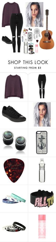 """""""Guess its smoke and broken angle wings"""" by whatevernicole31 ❤ liked on Polyvore featuring MANGO, Topshop, Converse, Misbehave, CellPowerCases, Dot & Bo, Victoria's Secret PINK, women's clothing, women and female"""