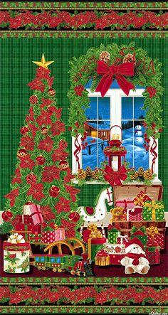 """Tis The Season - Christmas Eve View - 24"""" x 44"""" PANEL"""