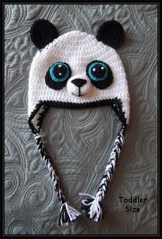Crocheted Panda Hat by ItsNotWeird on Etsy