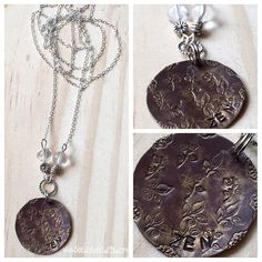 A personal favorite from my Etsy shop https://www.etsy.com/listing/244933784/handstamped-zen-nature-tag-necklace