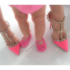 Those pink heels are amazing!!!