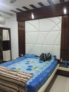 Bedroom Bed Design, Bedroom Furniture Design, Modern Bedroom Design, Bed Furniture, Bedroom Sets, Bedroom Designs, Simple Bed Designs, Bed Back Design, Wardrobe Door Designs