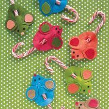 Candy Cane Felt Mice {free pattern}