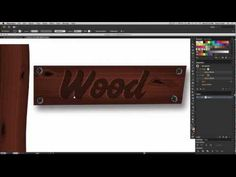 Create realistic wood textures-Adobe Illustrator tutorial - YouTube