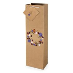 A composition of Kraft paper and genuine flower petals come together to make this natural one-bottle wine bag! Matching Gifts, Bottle Bag, Kraft Paper, Flower Petals, Recycled Materials, Wild Flowers, Gift Tags, Bags, Products