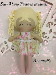 15 inch handmade doll- Annabelle from Sew Many Pretties