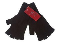 Gravity Threads Unisex Warm Half Finger Stretchy Knit Glo...