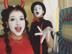 Mime Makeup, Halloween Face Makeup, Cute Clown, Ronald Mcdonald, Goth, Female, Painting, Fictional Characters, Gothic