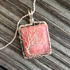 Tree of Life Wire Wrapped Extra Large Amazonite Pendant Copper | DesignsinCopper - Jewelry on ArtFire
