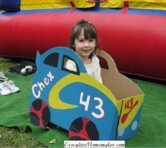 make cardboard race cars to race