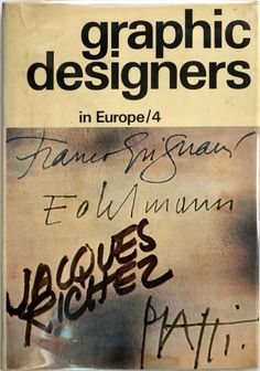 graphic designers in Europe/4, NY, 1973 Logo Sketches, Photo Logo, Graphic Designers, Gallery, Europe, Roof Rack