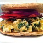 Turkey Bacon, Egg White, Spinach Breakfast Sandwich
