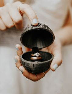 A Woodsy Forest Elopement in Mt. Rainier National Park - Star Wars Rings - Ideas of Star Wars Rings - death star ring box star wars wedding ideas star wars bride unique ring boxes Star Wars Ring, Star Wars Shoes, Star Ring, Star Wars Wedding Cake, Christmas Wedding Themes, Wedding Decorations, Theme Star Wars, Wedding Ring Box, Geek Wedding Rings