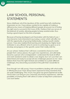 Law School Personal Statements Advice