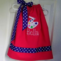 Art Party  Pillowcase Dress in Hot Pink and Purple. $32.95, via Etsy.