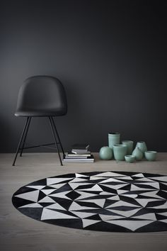 T.D.C | Leather geometric rug by Woven Ground