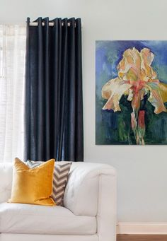Beautiful #flower #art in blue. I need to wall art badly for my new house, and I'm thinking this would be PERFECT in my dining room!