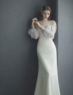 Plain Wedding Dress, Simple Wedding Gowns, Weeding Dress, White Wedding Dresses, Elegant Dresses, Pretty Dresses, Bridal Dresses, Beautiful Dresses, Muslim Wedding Gown