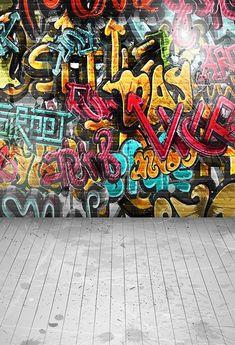 Vinyl Graffiti wall Photo Backdrops Kids model party Photography Background for photo studio New Background Images, Brick Wall Background, Party Background, Retro Photography, Photography Backdrops, Computer Photography, Graffiti Photography, Party Photography, School Photography