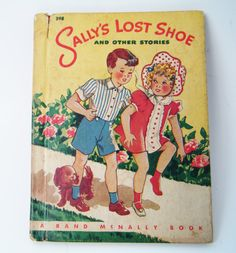 """1944 First Edition """"Sally's Lost Shoe And Other Stories"""" Hardcover Book By Florence Laughlin Illustrated by Florence Salter by parkledge on Etsy"""