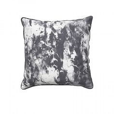 SILKE Grey and White Square Feather Cushion