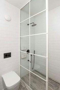 White shower door