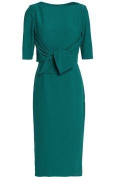 Raoul tie-front crepe dress