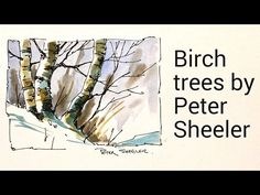 A demonstration by Peter Sheeler on how to draw and paint Birch trees in watercolour using ink pen and a waterbrush. Recorded at 2x regular speed. Music by h...