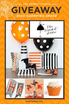 $100 GIVEAWAY to THE place for party supplies: The TomKat Studio {Win It!} #Giveaway #Halloween #Party