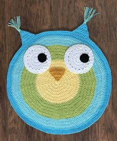 Crochet Rug Pattern - Crochet Fox - Woodland Fox Rug Pattern - Crochet Nursery Rug - Nursery Mat - Crochet Patterns by Deborah O'Leary Crochet Mat, Crochet Rug Patterns, Crochet Home, Owl Rug, Bear Rug, Owl Nursery, Nursery Rugs, Knit Rug, Nursery Patterns