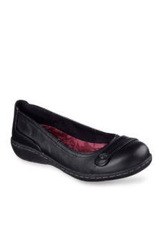 Skechers Women's Walla Walla Flat Shoe - Black ...