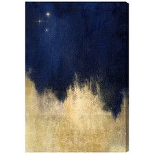 Stars at Midnight Painting Print on Wrapped Canvas
